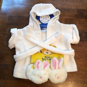 Build a bear robe and slippers
